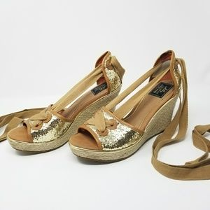 Milly for Sperry Palm Beach Espadrille Wedges 8.5
